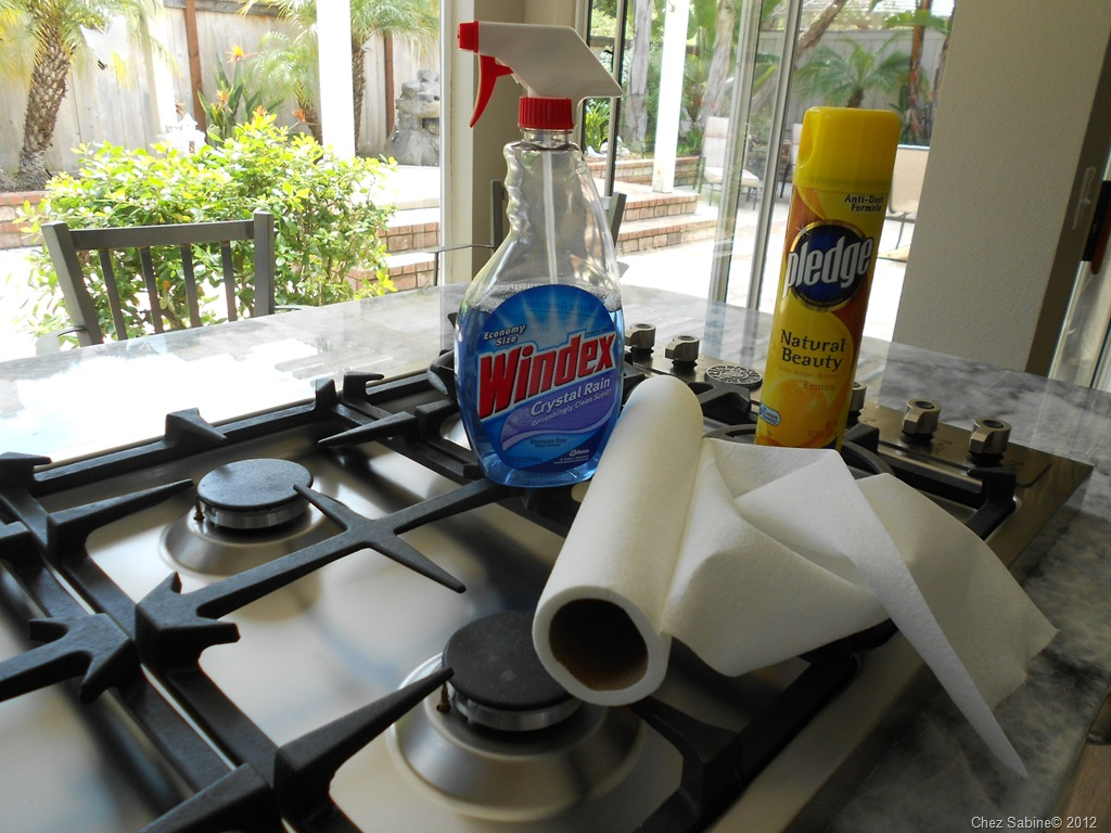 Clean that stainless steel stove top the easy breezy way | Chez Sabine