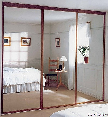 Sliding Door: Mirror Closet Sliding Doors Lowes