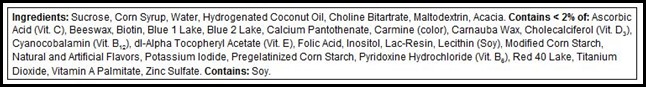 Centrum ingredients