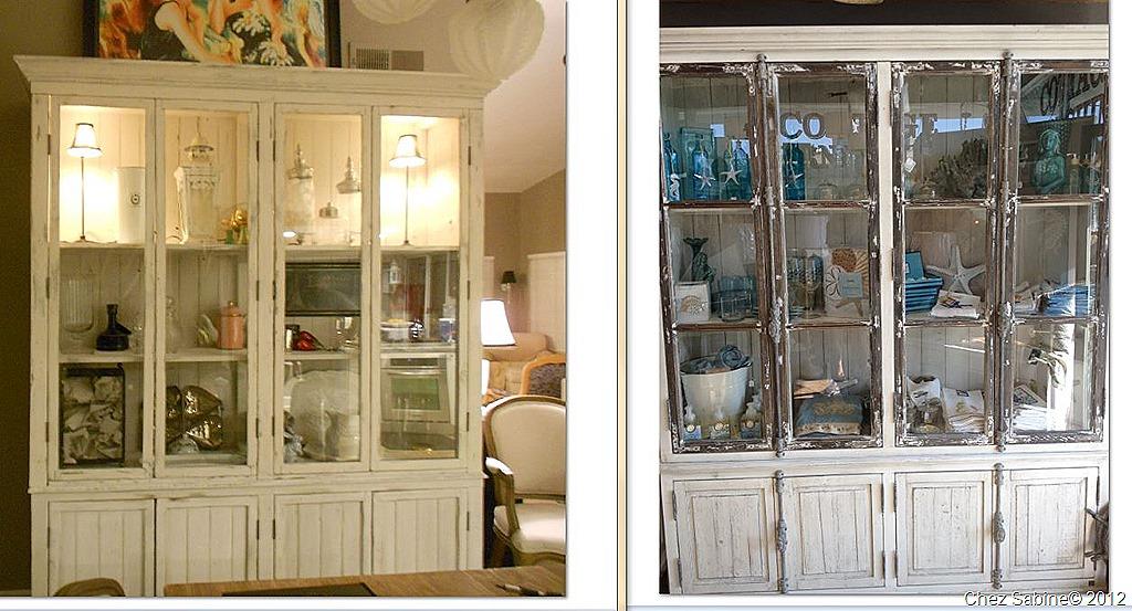 diy rustic china cabinet chez sabine. Black Bedroom Furniture Sets. Home Design Ideas