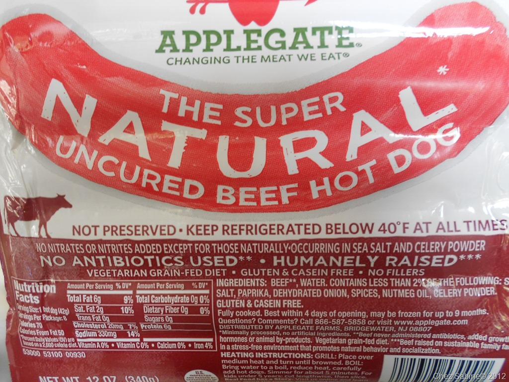 Applegate Beef Hot Dogs Whole